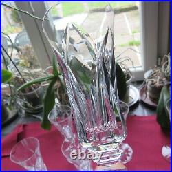6 flûtes à champagne en cristal de saint louis modèle Camargue signé H 18,4 cm