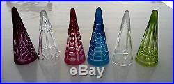 6 magnifiques verres culsec cul sec en cristal de st saint louis Parfait état