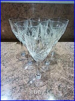 6 verres à eau en cristal Saint Louis modèle Chantilly