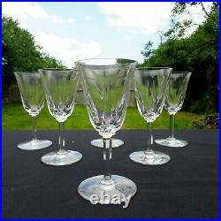 6 verres à eau en cristal de saint louis modèle cerdagne signé H 17,8 CM