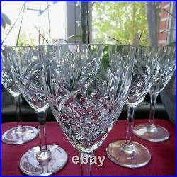 6 verres a eau en cristal saint louis modèle chantilly H 18,5 cm signé lot 1