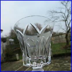 6 verres a eau ou a vin rouge en cristal de saint louis Camargue signé H 15,1 L2
