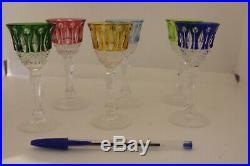 6 verres à liqueur en cristal de couleur SAINT°-LOUIS BACCARAT