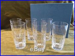 6 verres à orangeade cristal de saint Louis Caton (Crystal long drink glasses)
