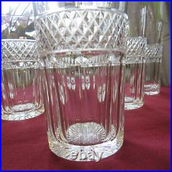 6 verres à orangeade en cristal de saint louis modèle trianon H 13,8 CM