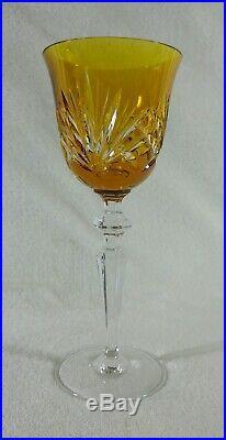 6 verres à vin blanc Etzel Saint-Louis-lès-Bitche Roemer Rhin Cristal Baccarat