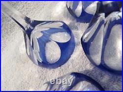 6 verres à vin cristal saint louis overlay cobalt bristol crystal wine glasses