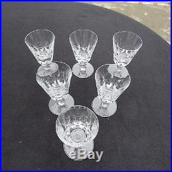6 verres a vin en cristal de saint louis modèle jersey pour le paquebot France 1