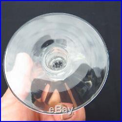 6 verres a vin en cristal de saint louis modèle marne signé H 8,5 cm
