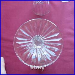 6 verres à vin en cristal de saint louis modèle tommy H 15 cm signé