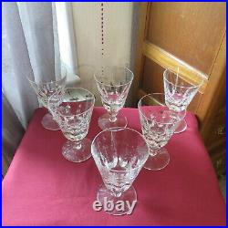 6 verres a vin en cristal saint louis jersey pour le paquebot France H 11 cm