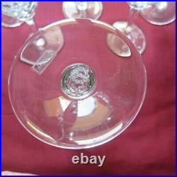 6 verres a vin en cristal saint louis modèle chantilly H 15,1 cm signé lot 2