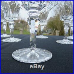 6 verres a vin rouge en cristal de saint louis modèle Camargue signé H 13,2 cm 3