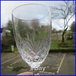 6 verres a vin rouge en cristal de saint louis modèle Massenet H 14,5 cm