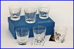6 verres à whisky en cristal de Saint Louis Cerdagne neufs + boîte