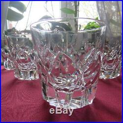 6 verres a whisky en cristal de saint louis modèle Camargue