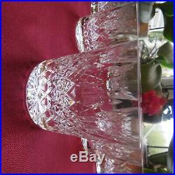 6 verres gobelet a whisky en cristal saint louis modèle messine