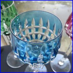 6 verres roemer en cristal de saint louis modèle sylvaner signé H 20,5 cm