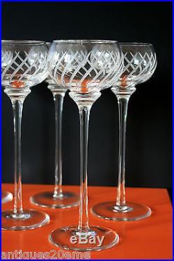 6 verres vin du rhin cristal saint louis pour herm s collection fanfare neufs verres cristal. Black Bedroom Furniture Sets. Home Design Ideas