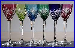 6 verres vin du rhin ou roemers en cristal saint louis mod le chantilly verres cristal st louis. Black Bedroom Furniture Sets. Home Design Ideas