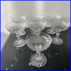 7 Ancien coupes à champagne cristal Baccarat Ou St Louis