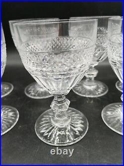 7 Verres Cristal Saint Louis Modèle Trianon H 13.9cm
