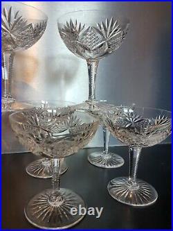 7 coupes à champagne en cristal de Saint Louis modèle FLORENCE old crystal cup