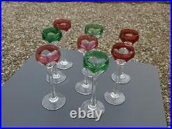 8 Anciens Verres A Liqueur En Cristal Saint Louis Modele Bristol Epoque 1920