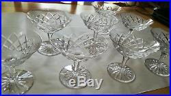 8 coupes champagne en cristal de saint louis toutes en parfait état