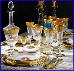 8 verres à liqueur cristal de Saint Louis Thistle Gold St Louis crystal 10,5cm