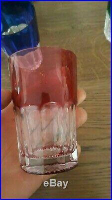 9 Verres Gobelet A The En Cristal De St Louis Couleur Baccarat