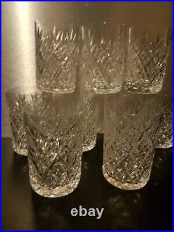 9 verres gobelets en cristal de Saint Louis modèle FLORENCE old crystal glass