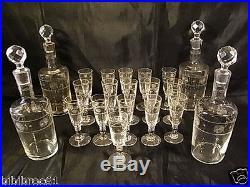 Ancienne Cave Liqueur Foret Noire Carafe Verre Cristal Saint Louis Liquor Cellar