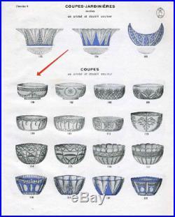 ANCIENNE COUPE SALADIER Cristal couleur double couche taille ST LOUIS BACCARAT
