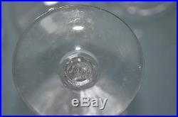 ANCIEN 6 verres en cristal ST. LOUIS chaque pièce signée