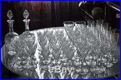 ANCIEN CARAFE EN cristal TAILLE ST. LOUIS BACCARAT signée MODELE MOSELLE