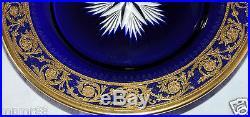 Assiette En Cristal De St Louis Bleu Thistle