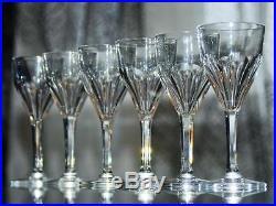 Ancien 6 Verre A Vin En Cristal Taille Baccarat St. Louis Signe Modele Bristol
