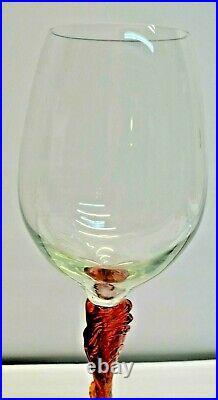 Ancien Lot De 3 Grand (28 Cm) Verre A Vin Cristal Saint St Louis Pied Tourne