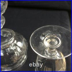Ancien Service de Nuit 6 Pièces en Cristal de Baccarat St Louis