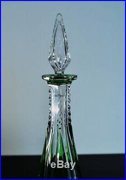 Ancienne Carafe Cristal Couleur Double Vert Taille St Louis Catalogue 1930