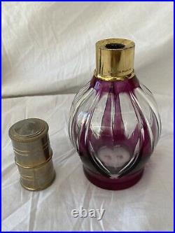 Ancienne Lampe Berger En Cristal De Saint Louis Violette Cadeau De Noël