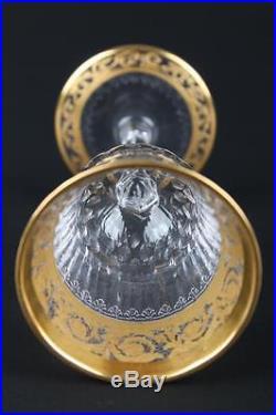 Ancienne Verre En Cristal De St Louis Thistle Or En Parfait Etat Signe