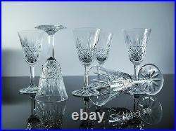 Anciennes 6 Grand Verres A Vin Rouge Cristal Taille Modelé Tarn St Louis Signe