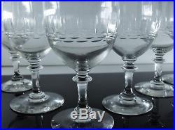 Anciennes Lot 6 Verres A Eau Ou Vin En Cristal Taille Baccarat St Louis