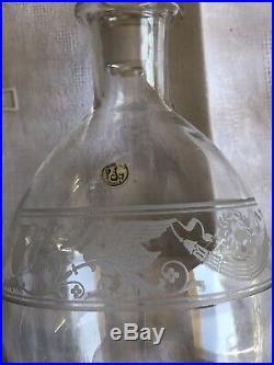 Baccarat Pièce à Étiquettes Saint Louis Daum Lalique Verres Carafe Empire