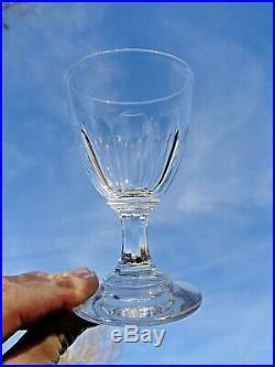 Baccarat Saint Louis 6 Verres A Vin Cristal Taillé Cotes Plates 19ème Xixème Am