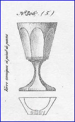 Baccarat Saint Louis 6 Verres A Vin Cristal Taillé Cotes Plates 19ème Xixème Ba