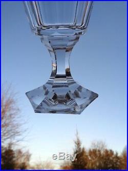 Baccarat Saint Louis 6 Verres A Vin Cristal Taillé Cotes Plates 19ème Xixème Bb