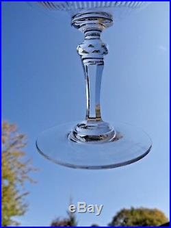 Baccarat Saint Louis Jeu Jeux D'orgue De Biseaux 6 Coupes A Champagne Cristal Aa